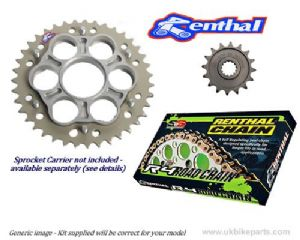 Renthal Sprockets and GOLD Renthal SRS Chain - Ducati Monster 1100 / 1100S / Evo (09-13)
